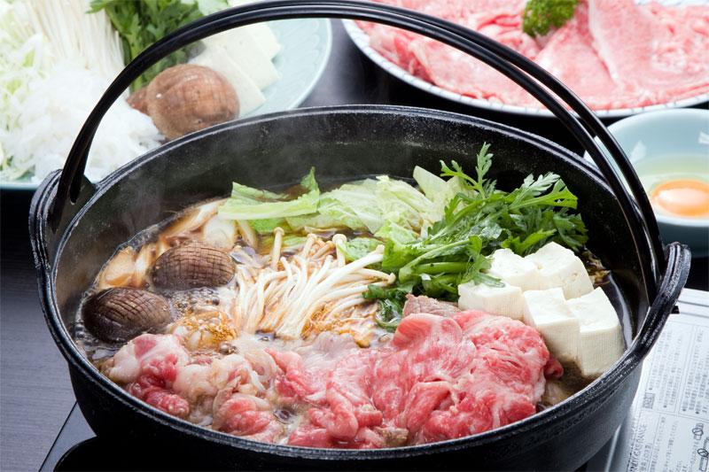 山形牛料理 山形牛すきコース|山菜料理 玉貴